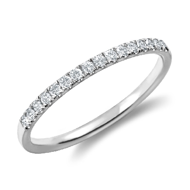 Petite Cathedral Pave Diamond Ring in Platinum (1/6 ct. tw.)