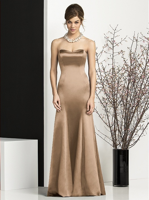 After Six Bridesmaids Style 6673 in cappuccino