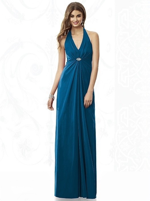 After Six Bridesmaids Style 6692 in ocean blue