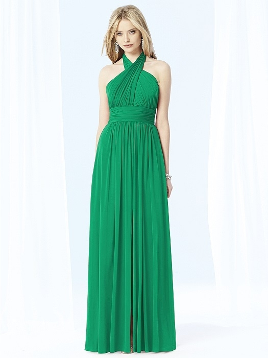 After Six Bridesmaids Style 6699 in PANTONE Emerald