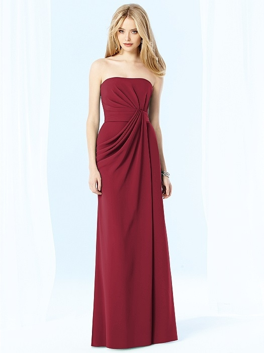After Six Bridesmaids Style 6700 in claret