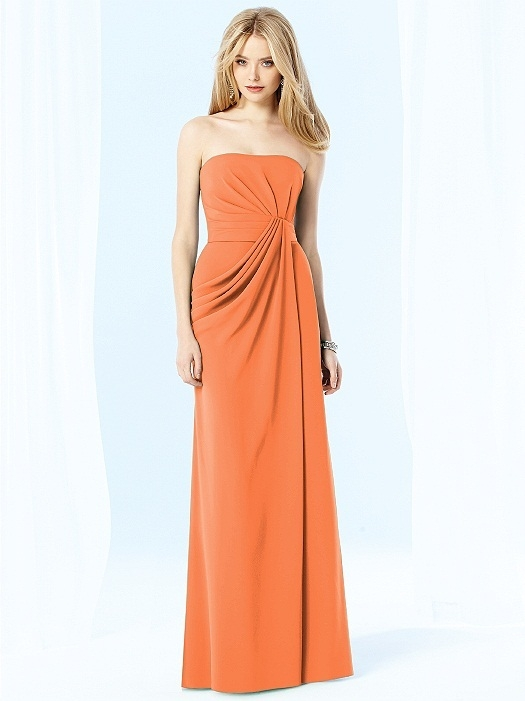 After Six Bridesmaids Style 6700 in clementine