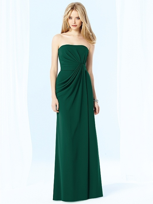 After Six Bridesmaids Style 6700 in hunter