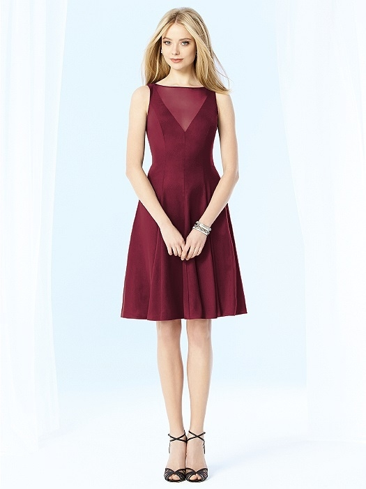 After Six Bridesmaids Style 6702 in burgundy