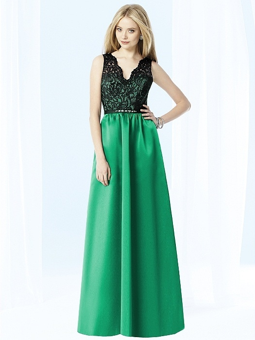 After Six Bridesmaids Style 6708 in PANTONE Emerald