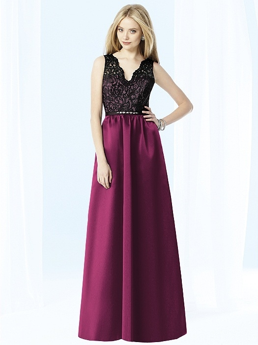 After Six Bridesmaids Style 6708 in ruby