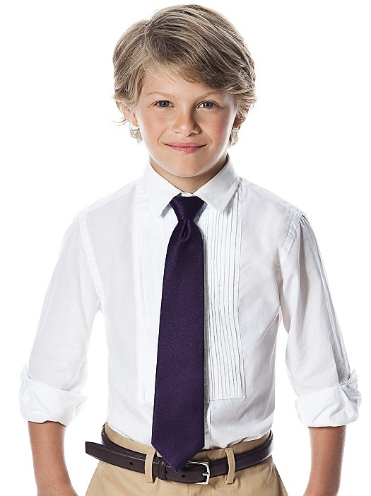 "Boy's 50"""" Duchess Satin Neck Tie in concord"