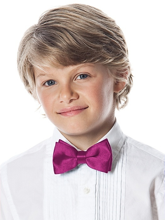Boy's Clip Bow Tie in Peau de Soie in fruit punch