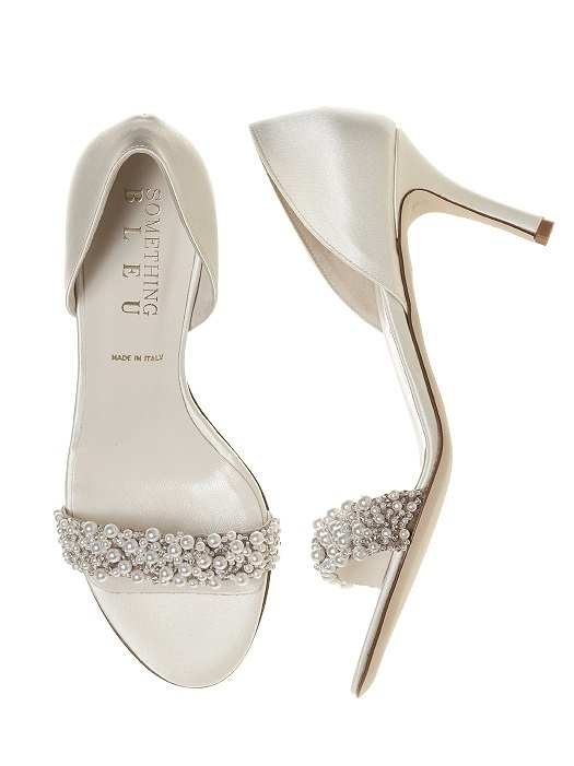 Cappy Pearl d'Orsay Bridal Shoe in ivory