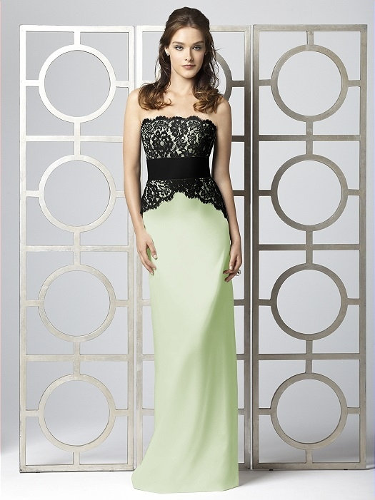 Dessy Collection Style 2849 in Limeade