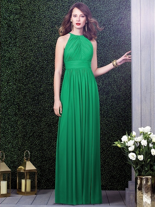 Dessy Collection Style 2918 in PANTONE Emerald