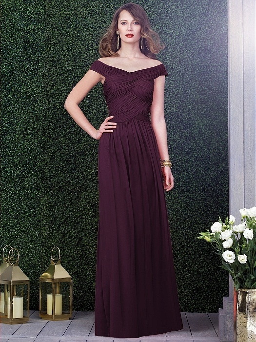 Dessy Collection Style 2919 in bordeaux