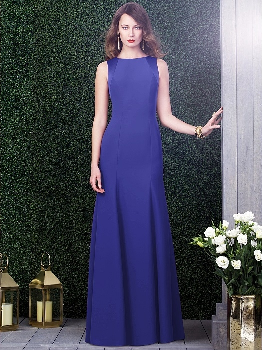 Dessy Collection Style 2923X in electric blue