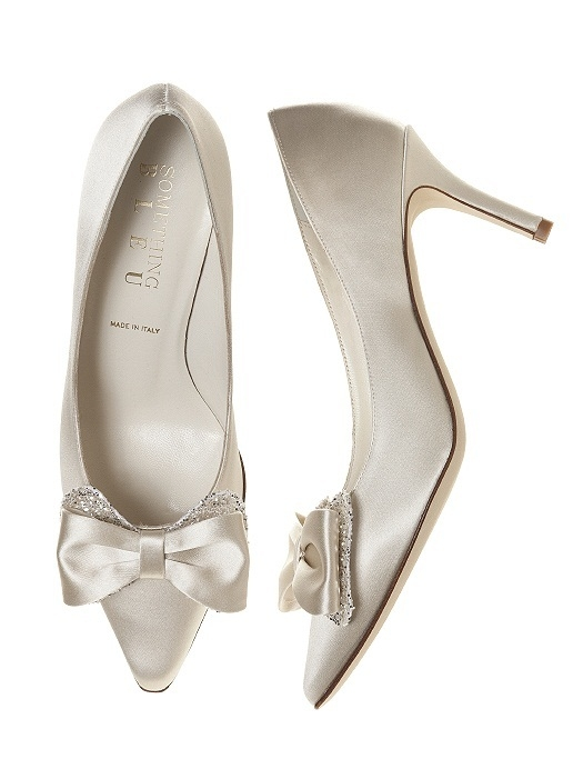 Doxy Satin and Sparkle Bridal Pump in ivory