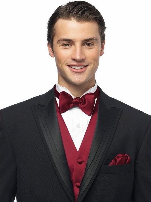 Duchess Satin Bow Ties in claret