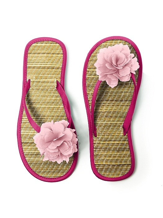 Flower Trimmed Bridesmaid and Bridal Flip Flop in tutti frutti