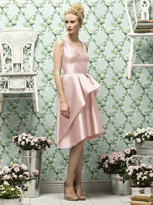 Lela Rose Style LR187 in pearl pink