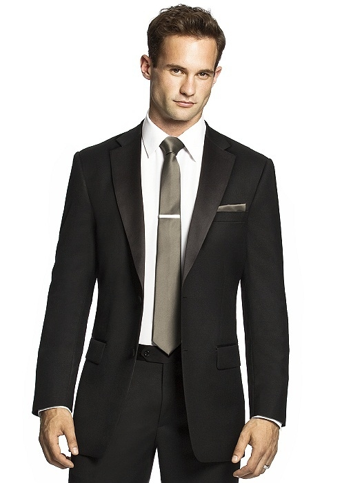 Men's Skinny Tie in Duchess Satin in mocha