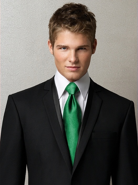 Men's Tuxedo Ties in Duchess Satin in shamrock