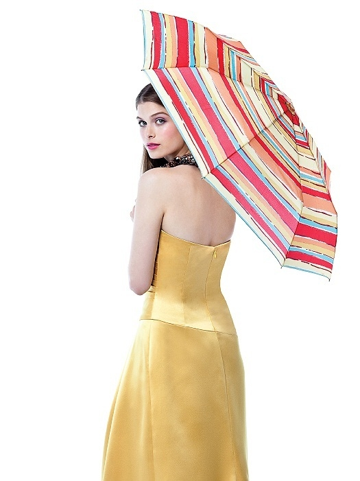 PANTONE WEDDING™ Umbrellas in red/yellow - striped pattern