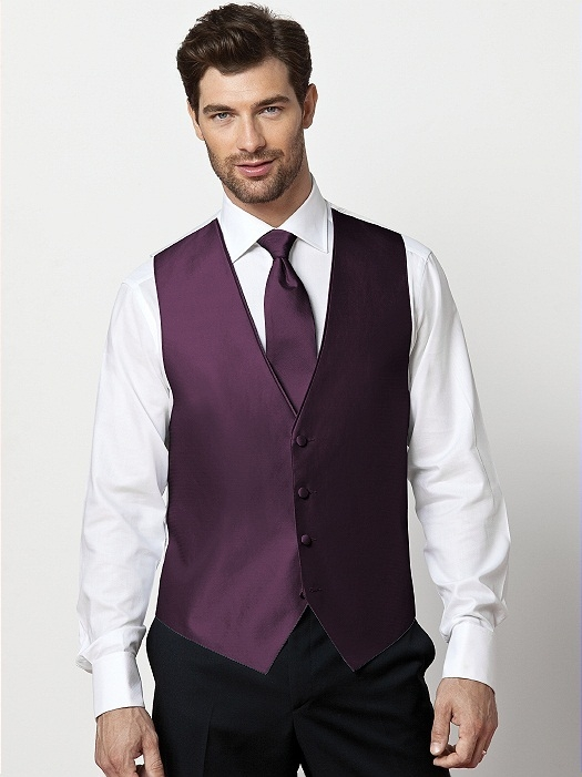 Paragon Slider Tie in aubergine