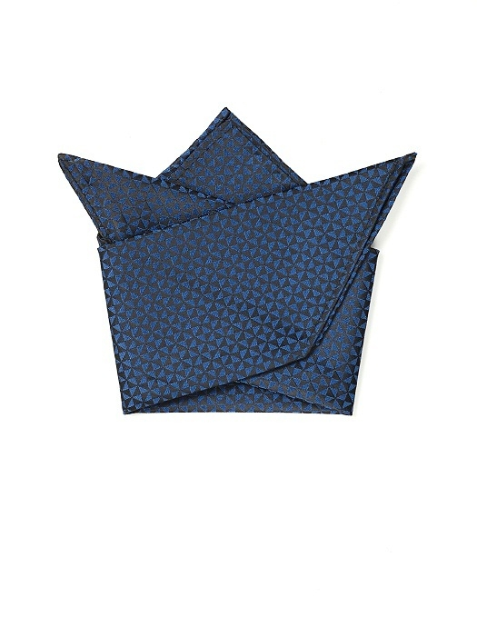 Pocket Square in 'Bowtie & Hourglass' Pattern in sapphire
