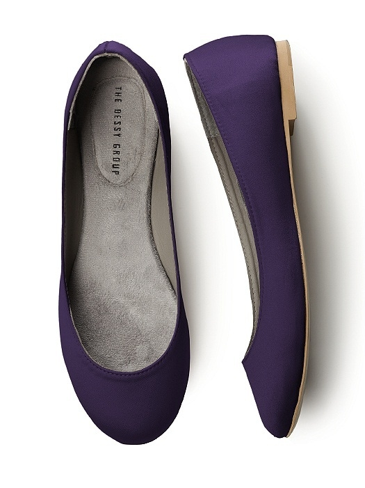 Simple Satin Ballet Flat in concord