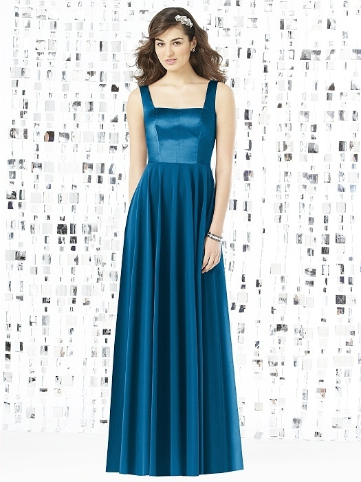 Social Bridesmaids Style 8144 in ocean blue