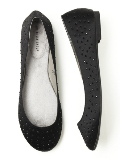 Sparkle Ballet Flat in black