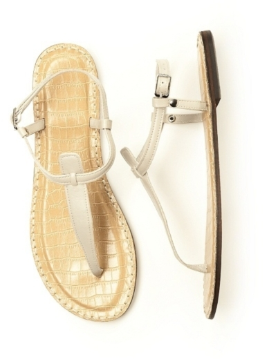T-Strap Sandal in oyster