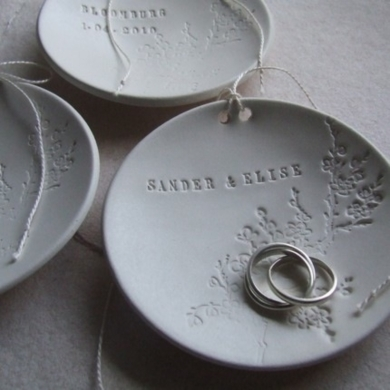 Blooming Branch Custom Ring Bearer Bowl