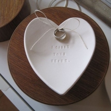 Heart Ring Bearer Bowl