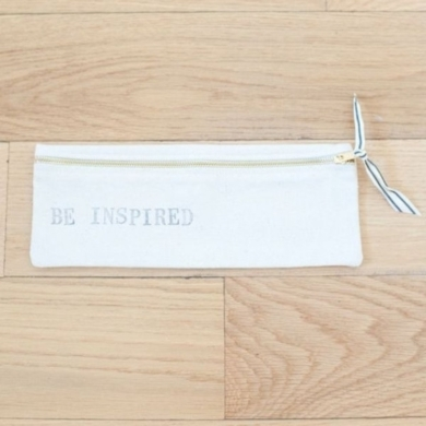 Be Inspired Canvas Pouch