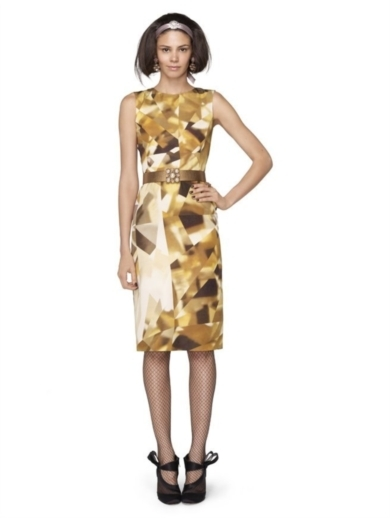 GEMSTONE PRINTED SILK FAILLE DRESS