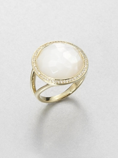 18K Gold Mother-Of-Pearl Ring