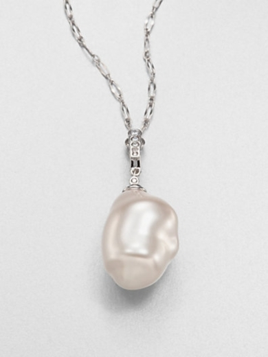 22MM Baroque Pearl and Sterling Silver Necklace