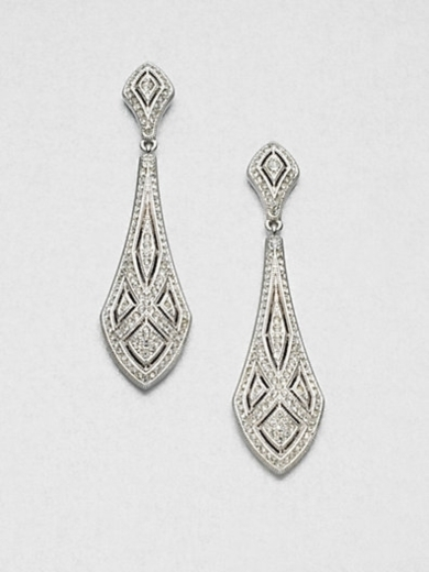 Art Deco Crystal Drop Earrings