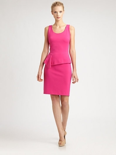 Asymmetrical-Peplum Dress
