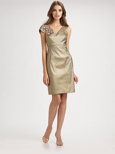 Asymmetrical Taffeta Dress