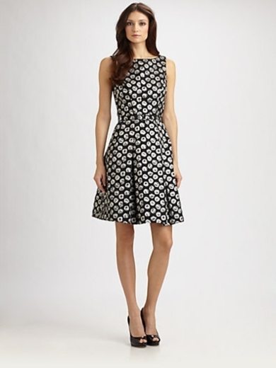 Belted Jacquard Dress