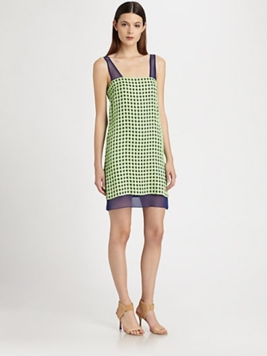 Checked Organza Dress