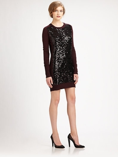 Danette Sequin Sweater Dress