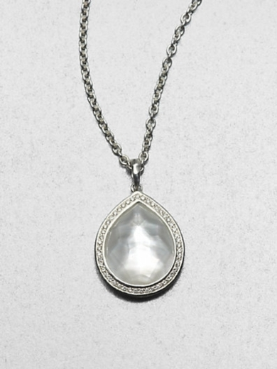 Diamond, Mother-of-Pearl and Sterling Silver Necklace
