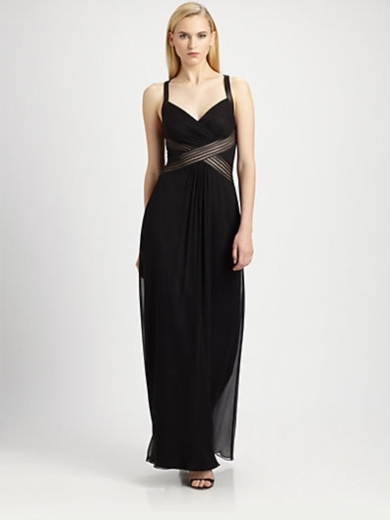 Draped Inset Gown