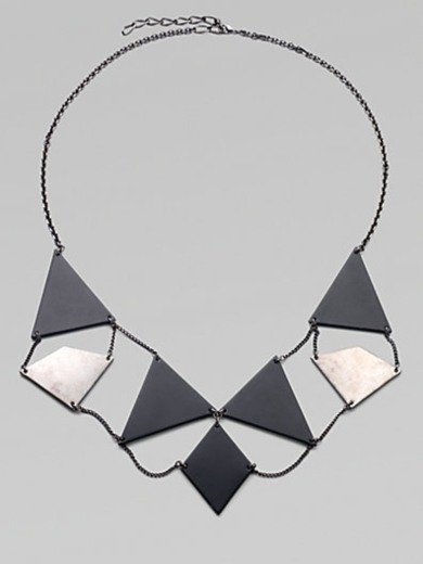Element Geometric Plaque Bib Necklace