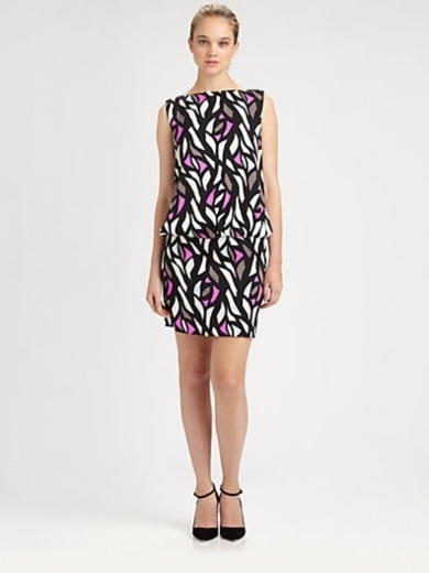 Gianna Glass-Print Dress