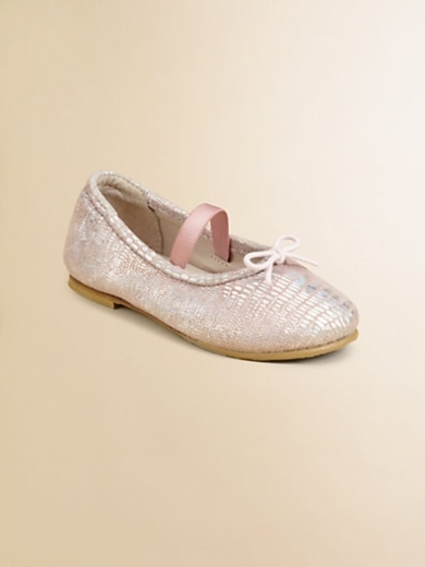 Infant's & Toddler's Ayano Metallic-Print Ballet Flats