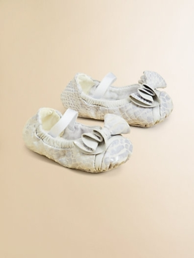 Infant's Angele Leather Ruffle Flats