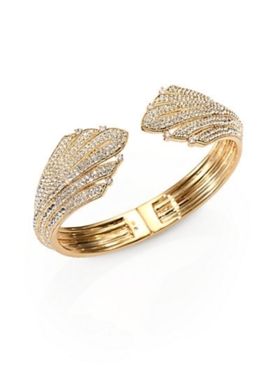 Pave Crystal Hinged Bangle Bracelet