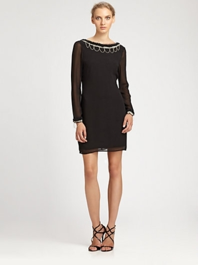 Scalloped Pearl Cocktail Dress